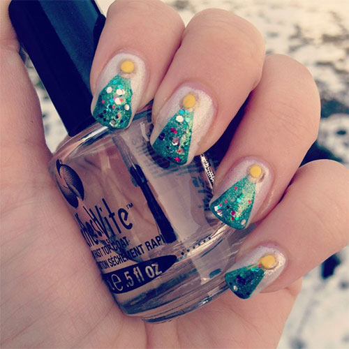 Christmas 2013 Nail Art: Easy Christmas Tree Nail Art Designs & Ideas 2013/ 2014
