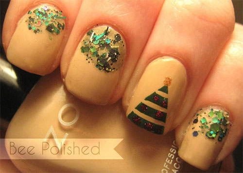 Easy Christmas Tree Nail Art Designs & Ideas 2013/ 2014 | X mas ...