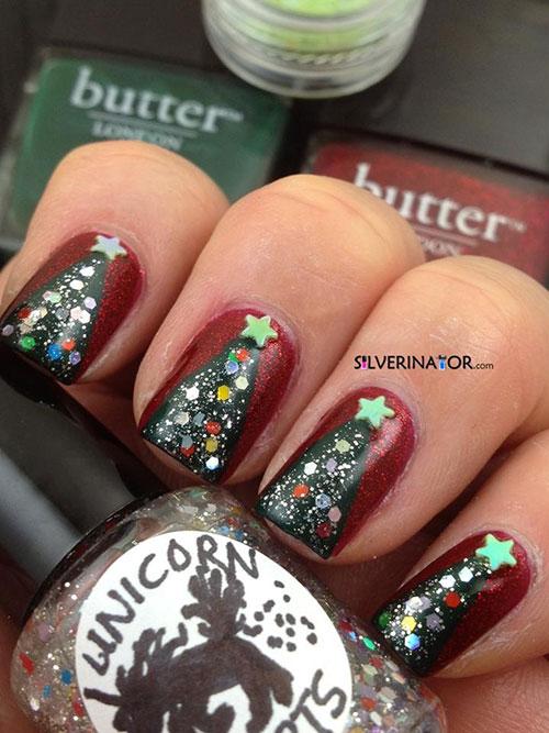 Christmas Tree Toe Nail Designs : Easy christmas tree nail art designs ideas
