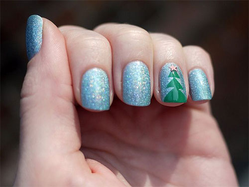 Easy-Christmas-Tree-Nail-Art-Designs-Ideas-2013-2014-X-mas-Nails-9