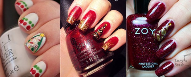 Easy-Christmas-Tree-Nail-Art-Designs-Ideas-2013-2014-X-mas-Nails