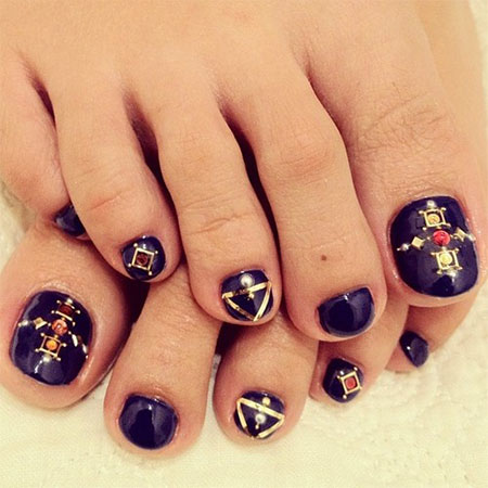 Easy & Cute Toe Nail Art Designs & Ideas 2013/ 2014 For Beginners ...