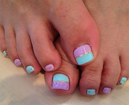 easy cute toe nail art designs ideas 2013