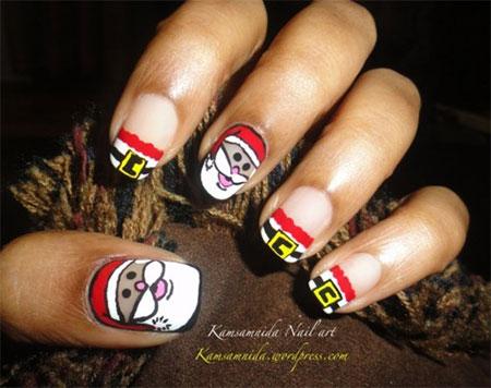 Easy-Santa-Nail-Art-Designs-Ideas-2013-2014-Xmas-Nails-1