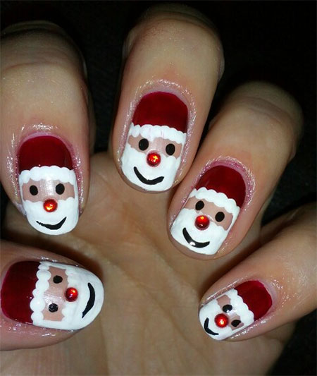 Santa Claus Nail Art: Easy Santa Nail Art Designs & Ideas 2013/ 2014