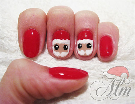 Easy-Santa-Nail-Art-Designs-Ideas-2013-2014-Xmas-Nails-4