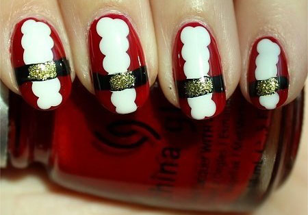 Easy-Santa-Nail-Art-Designs-Ideas-2013-2014-Xmas-Nails-6