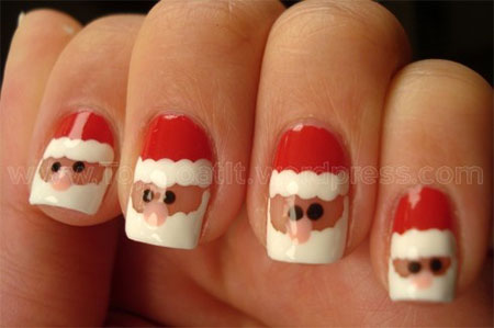 Easy-Santa-Nail-Art-Designs-Ideas-2013-2014-Xmas-Nails-7