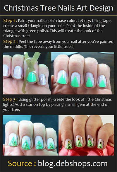 Easy-Simple-Christmas-Tree-Nail-Art-Tutorials-2013-2014-For-Beginners-Learners-1