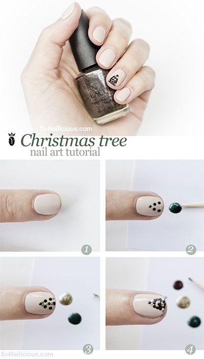 Easy-Simple-Christmas-Tree-Nail-Art-Tutorials-2013-2014-For-Beginners-Learners-4