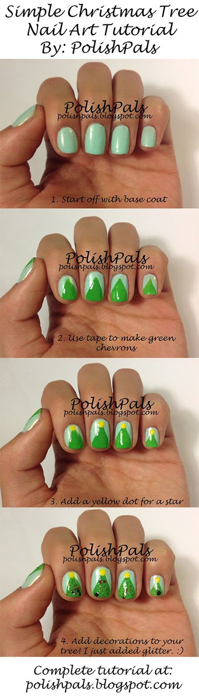 Easy-Simple-Christmas-Tree-Nail-Art-Tutorials-2013-2014-For-Beginners-Learners-5