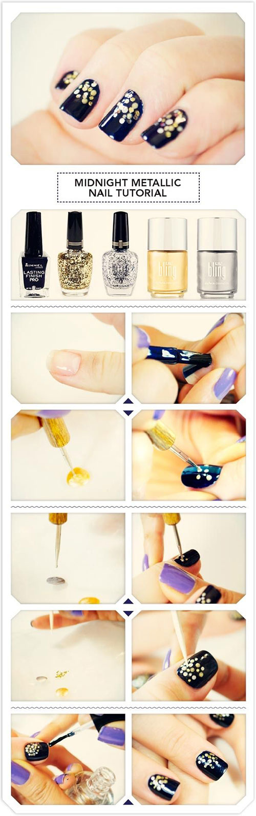Easy-Simple-New-Year-Nail-Art-Tutorials-2013 -2014-For-Beginners-Learners-2