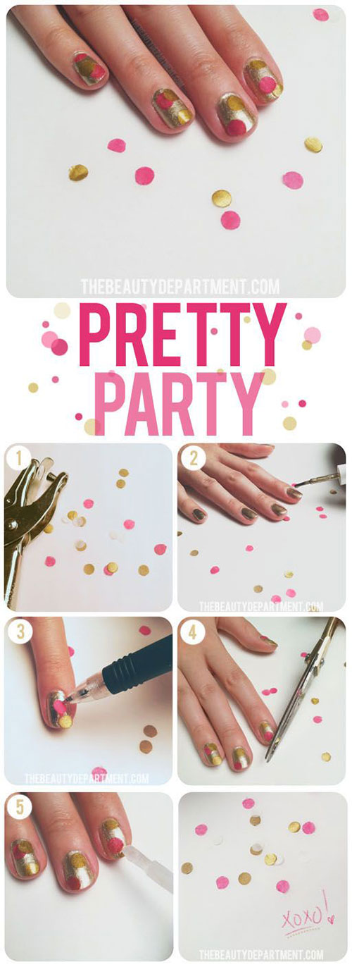 Easy-Simple-New-Year-Nail-Art-Tutorials-2013 -2014-For-Beginners-Learners-3
