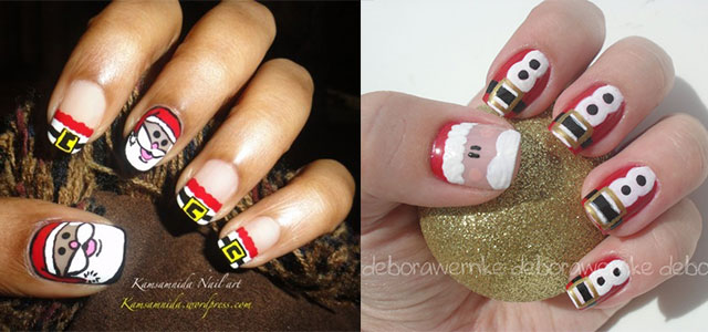 Easy-Snowman-Nail-Art-Designs-Ideas-2013-2014