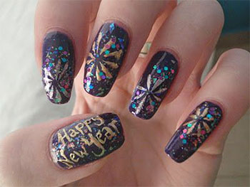 Hy New Year Nail Art Designs Ideas 20172017