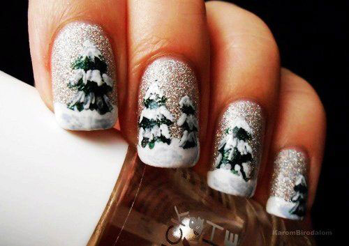 Simple & Easy Christmas Tree Nail Art Designs & Ideas 2013 ...