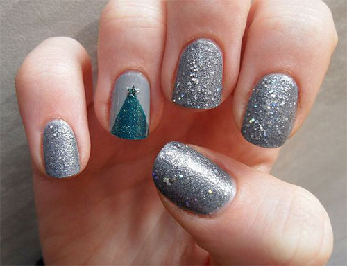 simple easy christmas nail art designs ideas 2013 - Simple Christmas Nails