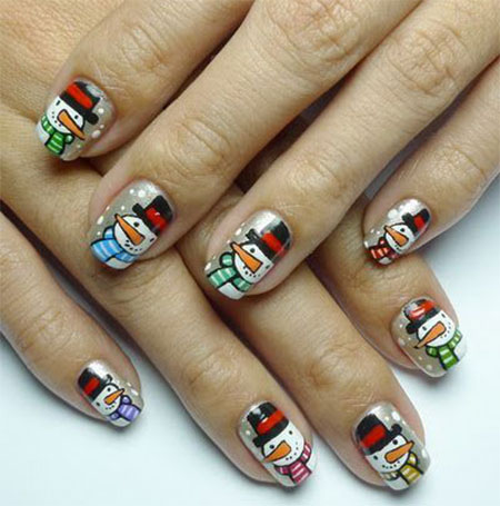 Cute-Easy-Snowman-Nail-Art-Designs-Ideas-2013-2014-1
