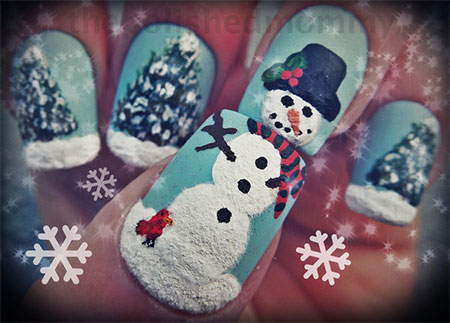 Cute-Easy-Snowman-Nail-Art-Designs-Ideas-2013-2014-10