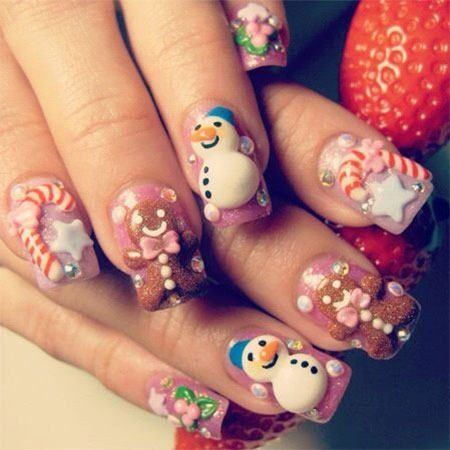 Cute-Easy-Snowman-Nail-Art-Designs-Ideas-2013-2014-11