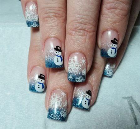 Cute-Easy-Snowman-Nail-Art-Designs-Ideas-2013-2014-2