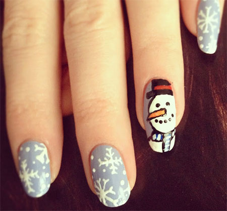 Cute-Easy-Snowman-Nail-Art-Designs-Ideas-2013-2014-3