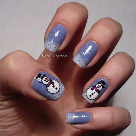 Cute-Easy-Snowman-Nail-Art-Designs-Ideas-2013-2014-4