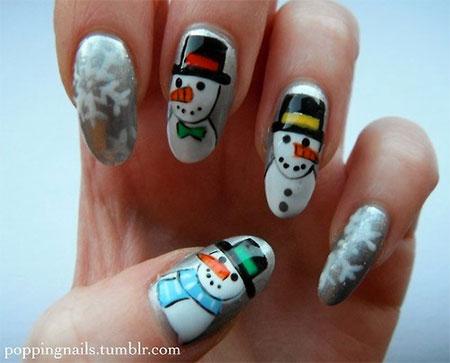 Cute-Easy-Snowman-Nail-Art-Designs-Ideas-2013-2014-5