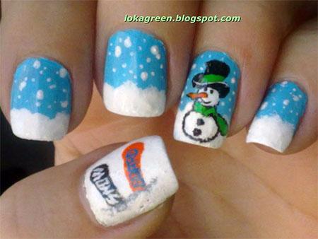 Cute-Easy-Snowman-Nail-Art-Designs-Ideas-2013-2014-6