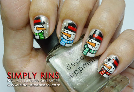 Cute-Easy-Snowman-Nail-Art-Designs-Ideas-2013-2014-7