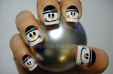 Cute-Easy-Snowman-Nail-Art-Designs-Ideas-2013-2014-9