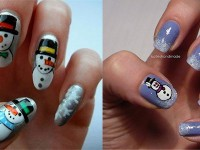 Cute-Easy-Snowman-Nail-Art-Designs-Ideas-2013-2014