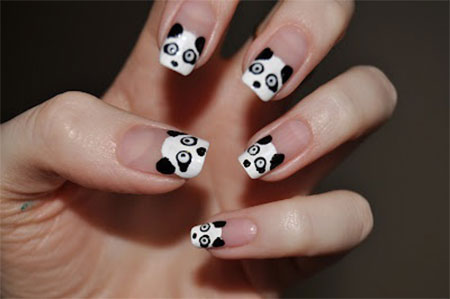 Cute-Panda-Nail-Art-Designs-Ideas-2013-2014- - Cute Panda Nail Art Designs & Ideas 2013/ 2014 Fabulous Nail Art