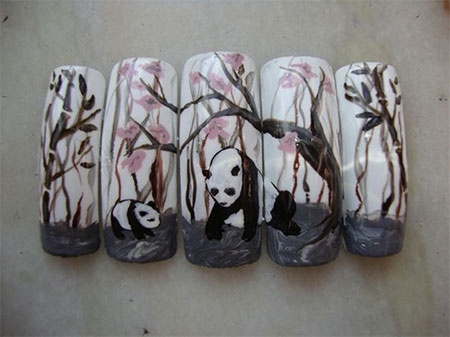 Cute-Panda-Nail-Art-Designs-Ideas-2013-2014-10