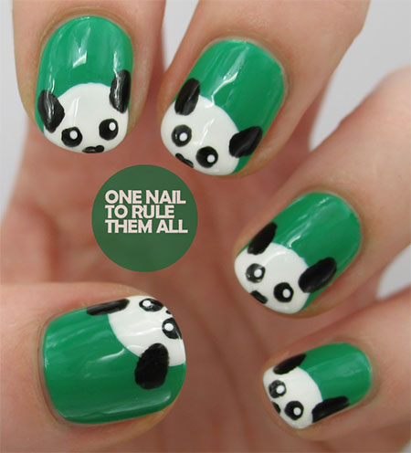 Cute-Panda-Nail-Art-Designs-Ideas-2013-2014-3