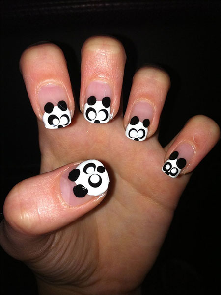 Cute-Panda-Nail-Art-Designs-Ideas-2013-2014-5