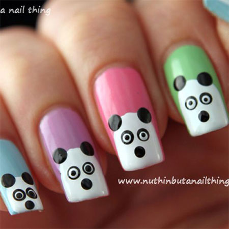 Cute-Panda-Nail-Art-Designs-Ideas-2013-2014-8