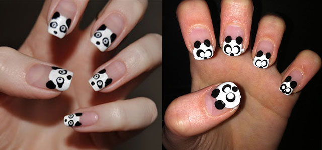 Cute-Panda-Nail-Art-Designs-Ideas-2013-2014
