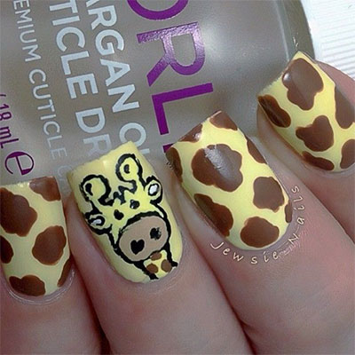 Cute-Zoo-Farm-Animals-Nail-Art-Designs-Ideas-2013-2014-11