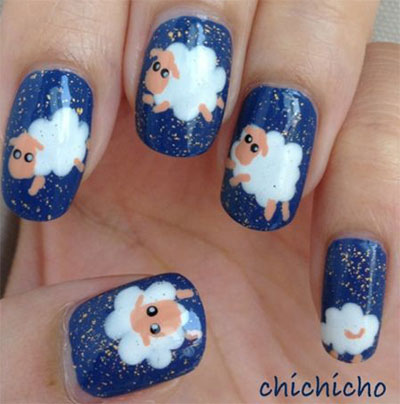 Cute-Zoo-Farm-Animals-Nail-Art-Designs-Ideas-2013-2014-3