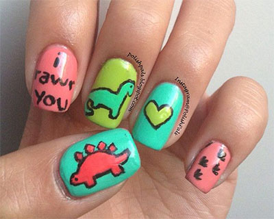 Cute-Zoo-Farm-Animals-Nail-Art-Designs-Ideas-2013-2014-5