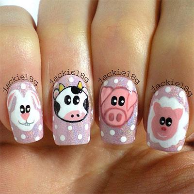 Cute-Zoo-Farm-Animals-Nail-Art-Designs-Ideas- - Cute Zoo & Farm Animals Nail Art Designs & Ideas 2013/ 2014