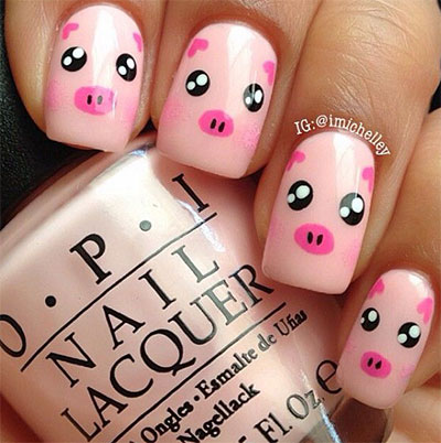 Cute-Zoo-Farm-Animals-Nail-Art-Designs-Ideas-2013-2014-8