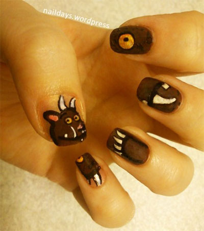 Cute-Zoo-Farm-Animals-Nail-Art-Designs-Ideas-2013-2014-9