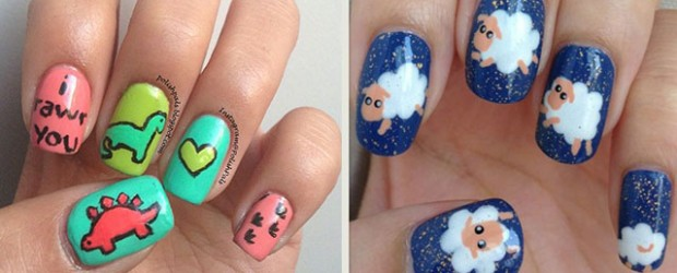 Cute-Zoo-Farm-Animals-Nail-Art-Designs-Ideas-2013-2014