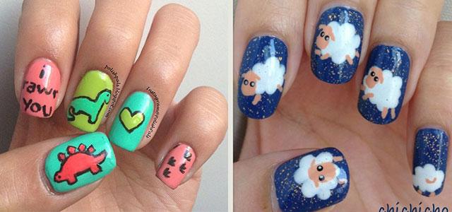 Cute-Zoo-Farm-Animals-Nail-Art-Designs-Ideas-2013-2014