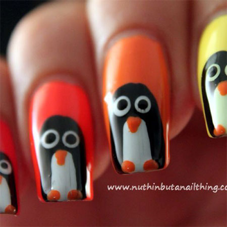 Easy-Cute-Penguin-Nail-Art-Designs-Ideas-2013-2014-13