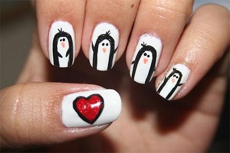 Easy-Cute-Penguin-Nail-Art-Designs-Ideas-2013-2014-14