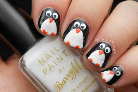 Easy-Cute-Penguin-Nail-Art-Designs-Ideas-2013-2014-3