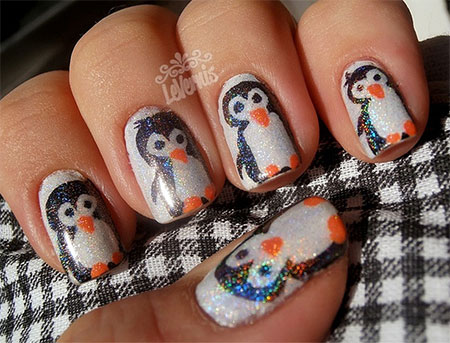 Easy-Cute-Penguin-Nail-Art-Designs-Ideas-2013-2014-7